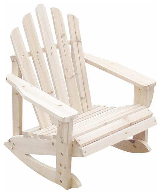 ... Kids Adirondack Rocker V.2, Natural beach-style-outdoor-rocking-chairs