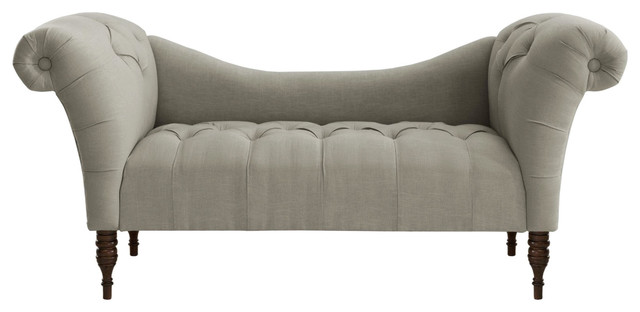 Venetian chaise in gray traditional chaise longue for Chaise longue tours