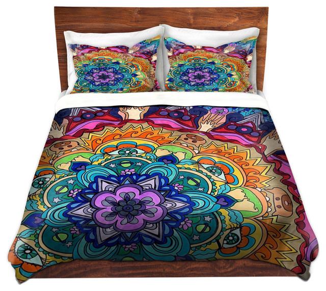 dianoche duvet covers twill microcosm mandala contemporain housse de couette et parure de. Black Bedroom Furniture Sets. Home Design Ideas