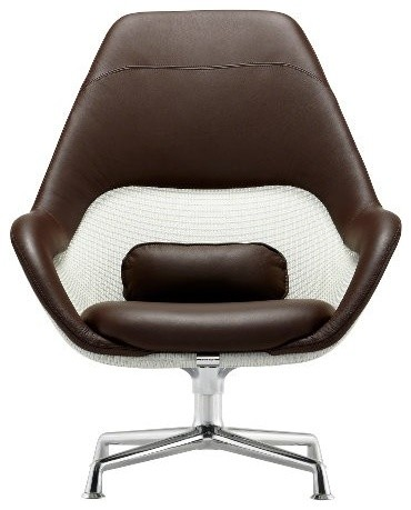 Sw 1 highback swivel lounge chair modern armchairs for Modern swivel accent chair
