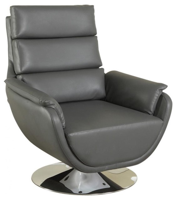 Syncro Faux Leather Swivel Accent Chair - Contemporary ...