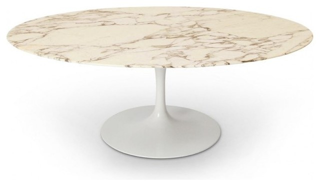 Table ronde de repas design tulipe plateau en marbre - Table ronde pied tulipe ...