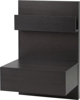 Ikea malm bedside table black brown bauhaus look for Ikea küchenlampen