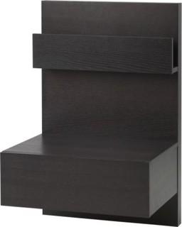 ikea malm bedside table black brown bauhaus look. Black Bedroom Furniture Sets. Home Design Ideas