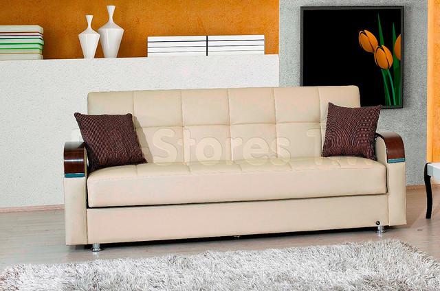 Soho sofa bed in bonded beige contemporary sofas new for Soho sofa bed