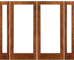 Prehung rustic 1 lite patio solid wood ig glass double for Solid wood patio doors