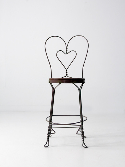 Vintage Ice Cream Parlor Chair Midcentury Bar Stools