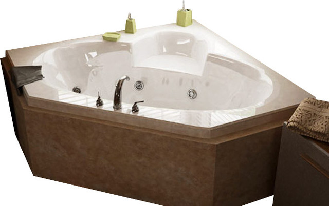 Atlantis Tubs 6060SWL Sublime 60x60x23 Inch Corner Whirlpool Jetted Bathtub