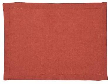 Pb Classic Linen Rectangular Place Mat Set Of 4 Terra