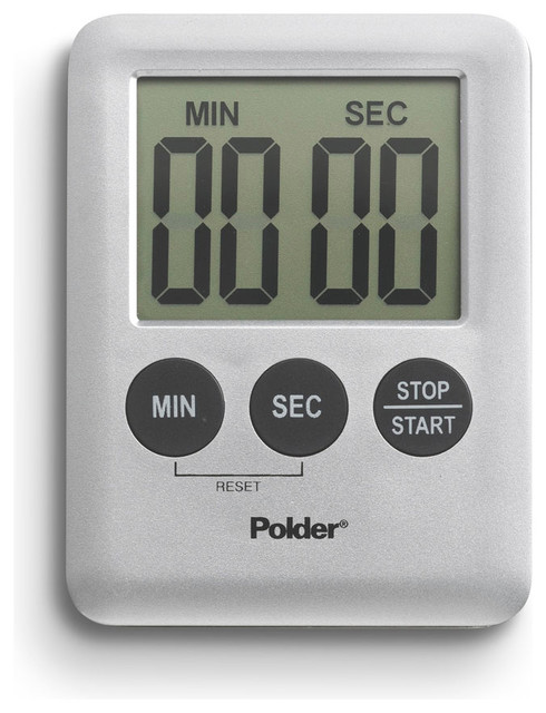 Polder Mini Digital Kitchen Timer Silver Contemporary Kitchen Timers By Ekitchenworld