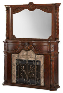 Windsor Court Fireplace And Mirror With Electric Heater