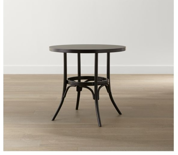 Vienna black round bistro table crate and barrel dining tables by crate barrel - Crate and barrel kitchen tables ...
