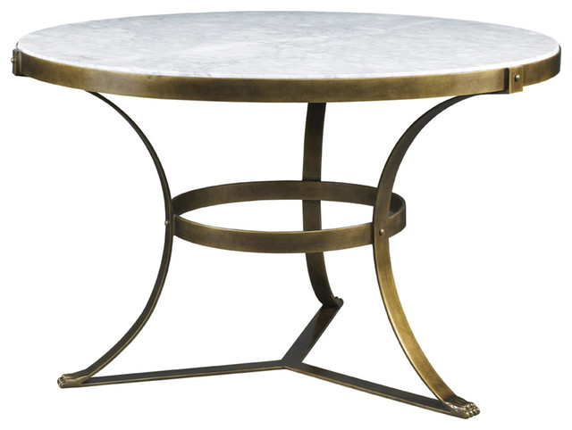 Lillian August Piers Round Center Table Gold Transitional Side Tables And End Tables By