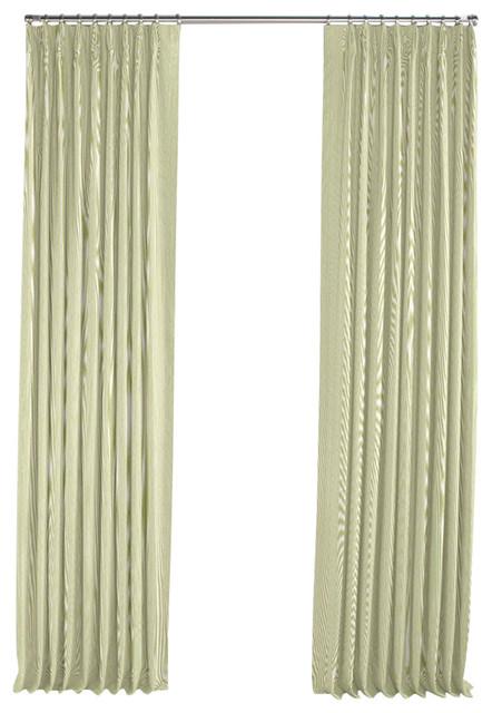 light green pinstripe pleated curtain single panel