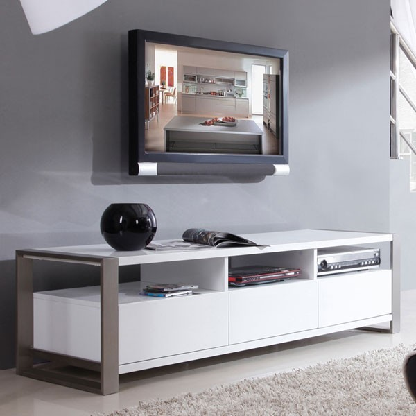 "B-Modern - Stylist 63"" High-Gloss White TV Stand - BM-110-WHT - Contemporary - Entertainment ..."