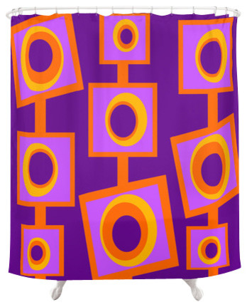 Funky Shower Curtain Angus Contemporary Shower Curtains By Crash Pad Designs