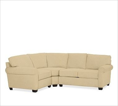 Buchanan upholstered right 3 piece small sectional with for 3 piece sectional sofa with wedge