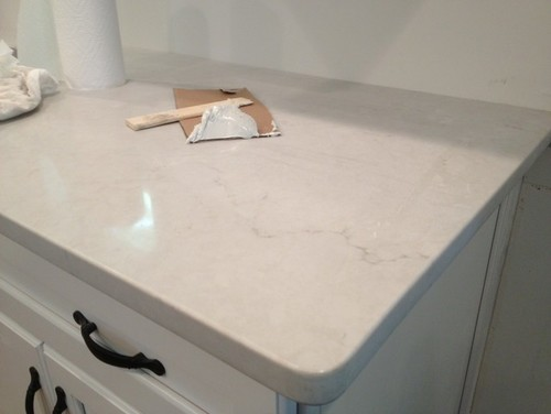 Anyone complete their london gray or frosty carrina for Cost of caesarstone countertops