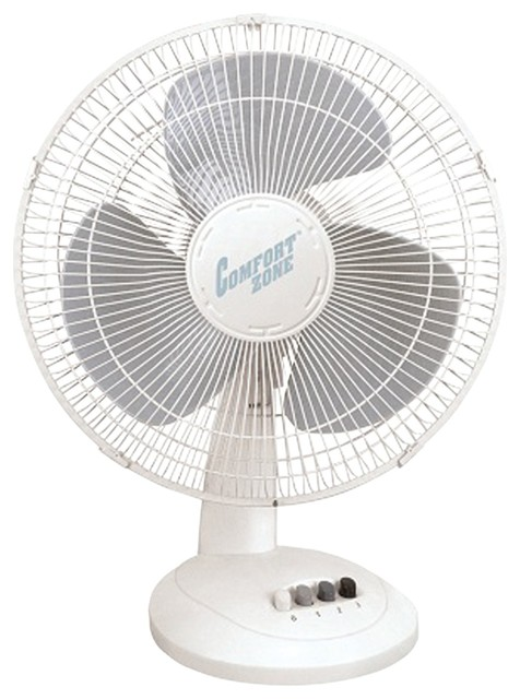 """Comfort Zone 16"""" Oscillating Table Fan - Electric Fans - by Diddly Deals"""