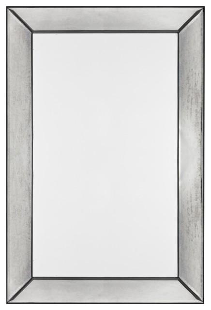 Tompkins frameless rectangular mirror modern bathroom for Frameless rectangular bathroom mirror