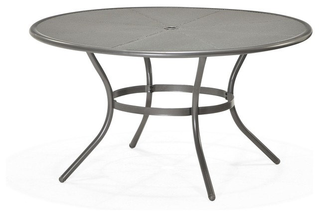 Mercury table ronde de jardin en acier d 140cm contemporain table de jardin par alin a Salon de jardin table ronde verre