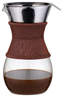 Modern Glass Coffee Maker : IItsukushima Pour-Over Drip Brewer Glass Carafe With Stainless Steel Filte - Contemporary ...