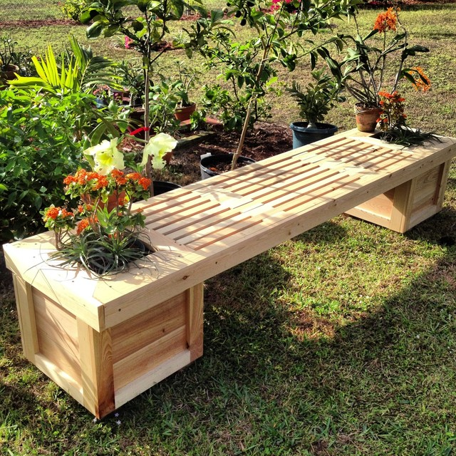 Plans wooden planter boxes wooden window designs for for Flower bench ideas