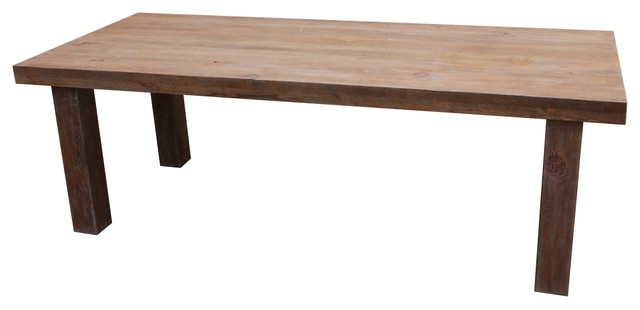 Loft Dining Table In Reclaimed Wood Modern Dining Tables Los Angeles