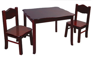 Classic espresso table and chairs set modern kids tables amp chairs