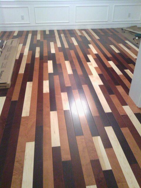 Mixed Maple Flooring Cincinnati Contemporary Hardwood