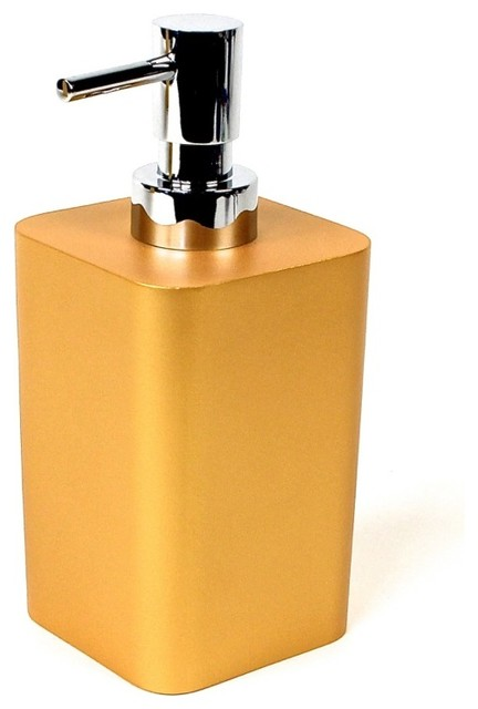 Free Standing Soap Dispenser Gold Contemporary Soap Lotion Dispensers By Thebathoutlet