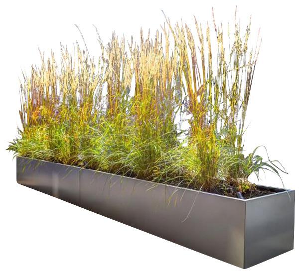 Gallery Metal Tall Rectangular Planter Modern Outdoor
