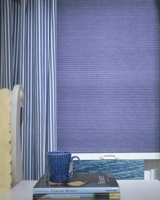 Crisp White And Lavendar Bedroom Eclectic Cellular Shades Burlington By