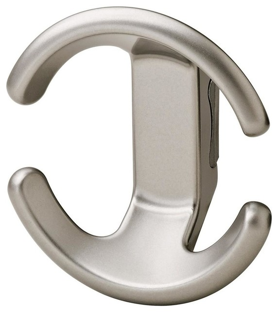 Bella italiana coat hook in matte nickel contemporary for Contemporary coat hooks