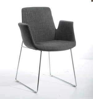 VIG Modrest Altair Modern Fabric Dining Chair In Grey Contemporary Dining
