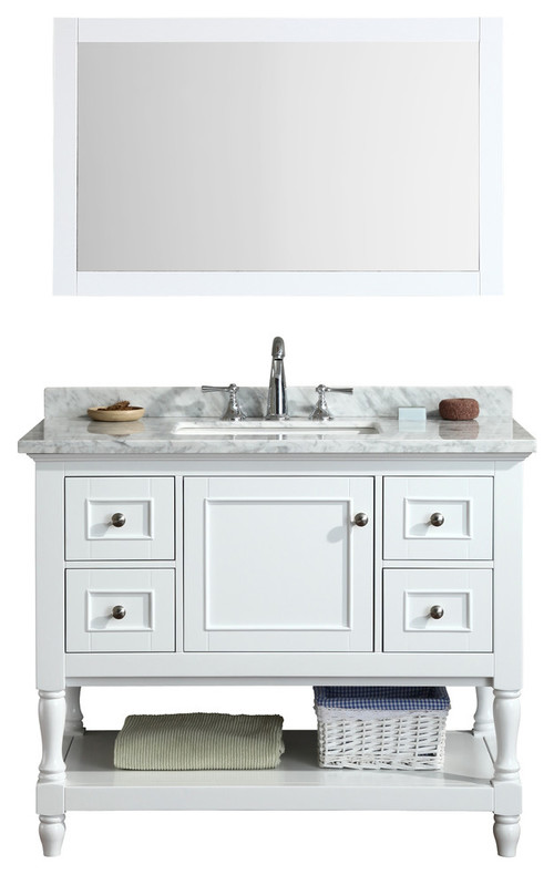Do you know the height of the bottom shelf of this vanity - Bathroom vanity with shelf on bottom ...