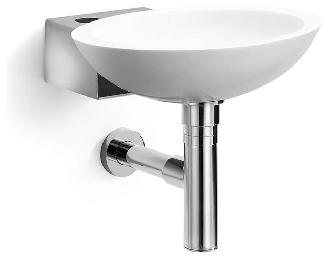 Stainless Steel Bathroom Sinks : Ciuci Stainless Steel Wall Sink - Contemporary - Bathroom Sinks