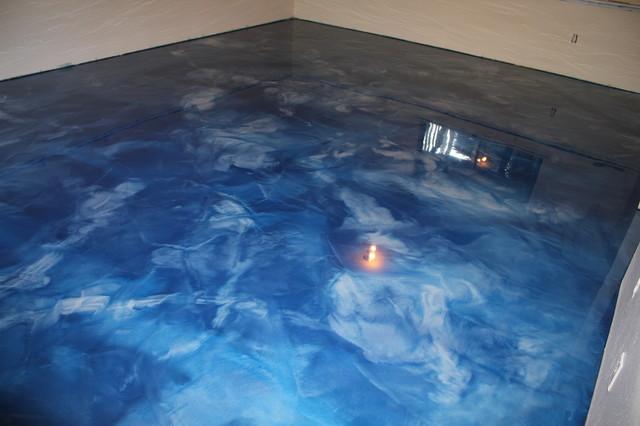 Bathroom vanity dealers - Metallic Epoxy Basement Floor Contemporary Seattle