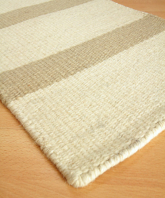 Alys beach wool berber stripe rug 10 39 x 14 39 transitional for Wool berber area rug