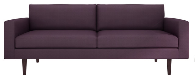 brady sofa klein aubergine 76 sofa contemporary sofas. Black Bedroom Furniture Sets. Home Design Ideas