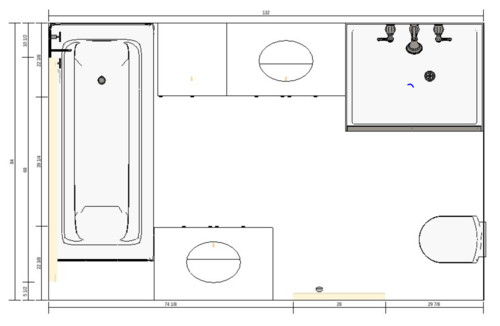 need help evaluating different bathroom layouts