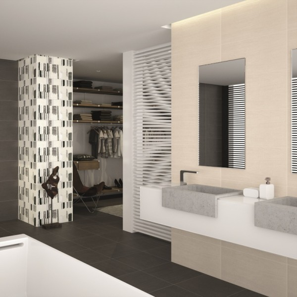 Contemporary Wall Tiles Design : Queens grey wall tiles inspiration for bathroom tile