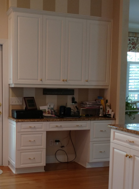 St. James Cabinet Redooring - Traditional - Home Office - Wilmington - by 50 Lakes Cabinet Design