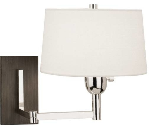 Modern Wall Lamp Shades : Robert Abbey S4237 Wonton 1 Light Wall Swinger in Silver S4237 - Modern - Lamp Shades - by HomeClick