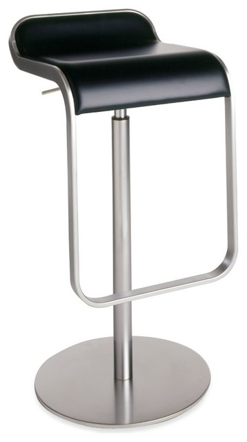 Lem Piston Stool With Leather Seat Modern Bar Stools