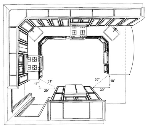 Pantry Cabinet Dimensions With Is This Enough Space To Walk Through The Kitchen Oak