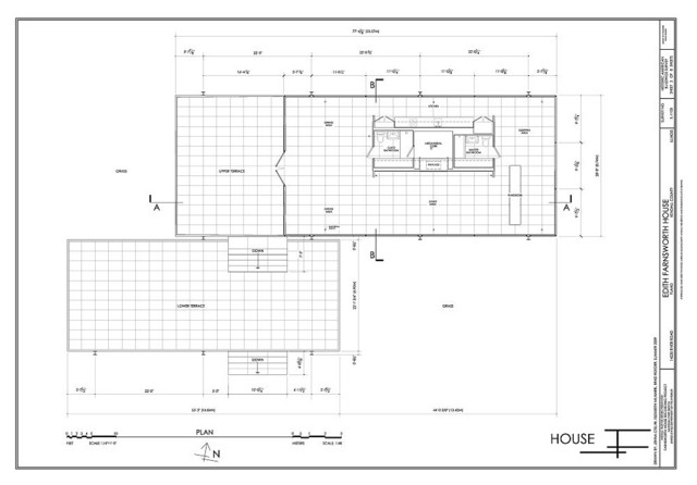 sophisticated Farnsworth House Floor Plan Gallery Best
