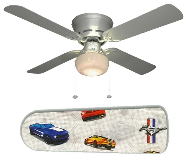 """Dad s Garage Den FORD Mustang 42"""" Ceiling Fan and Lamp"""
