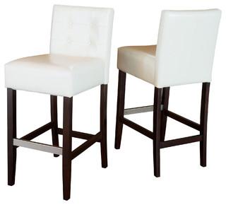 gregory ivory leather back stool set of 2 ivory bar