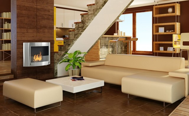Eco Feu Olympia Biofuel Fireplace Indoor Fireplaces Other Metro By Ventless Fireplace Pros